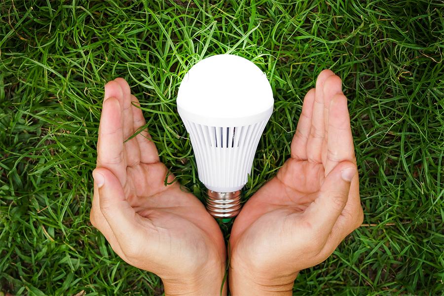 led lightbulb energy efficient home appliance.