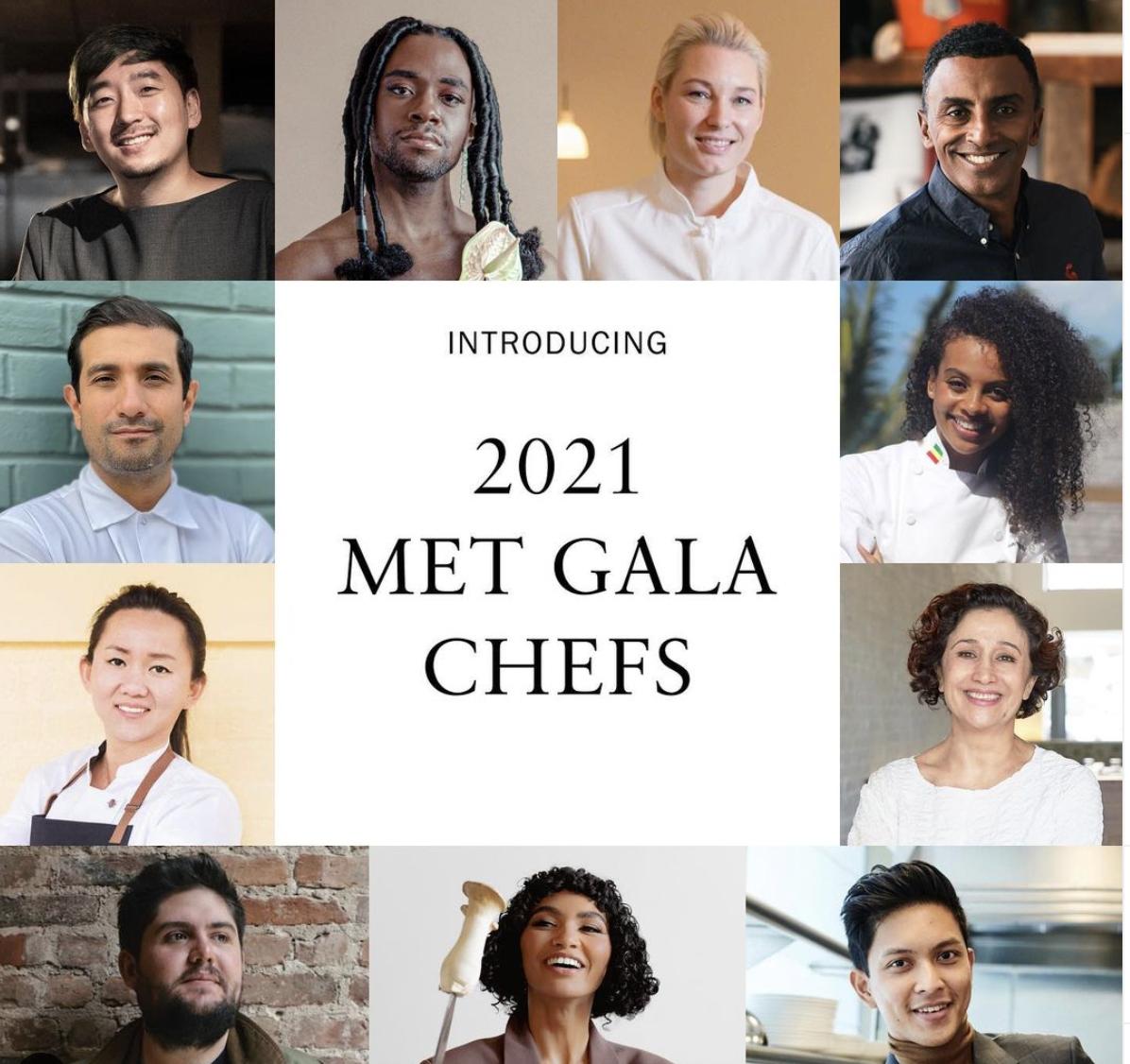 pictures of met gala vegan chefs