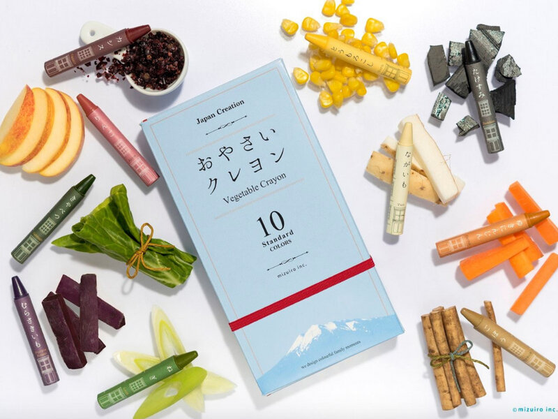 vegetable sustainable crayons