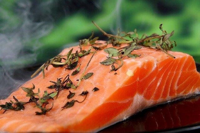 salmon following the pegan diet