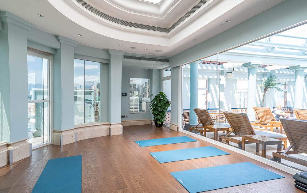 rooftop yoga studio eaton hk