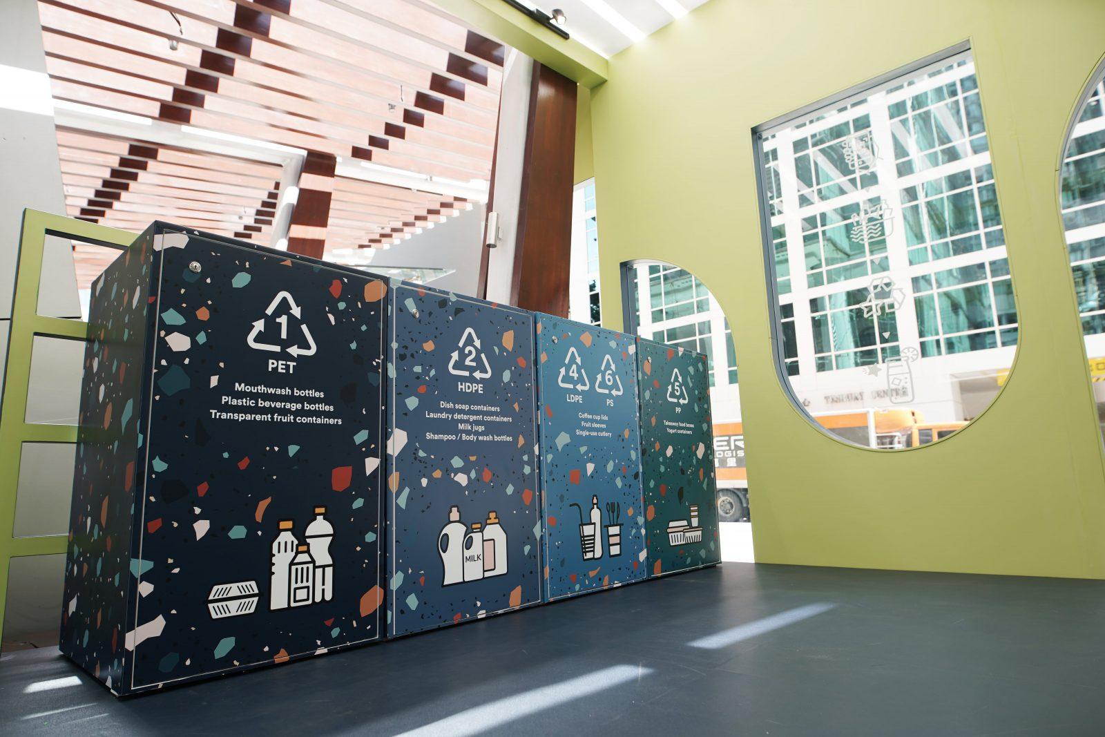 recycling bins at starstreet precinct
