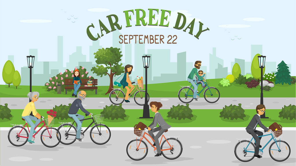 world car free day graphic
